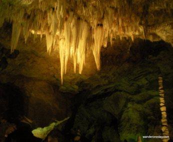 Ancient shadows at Carlsbad Caverns, NM