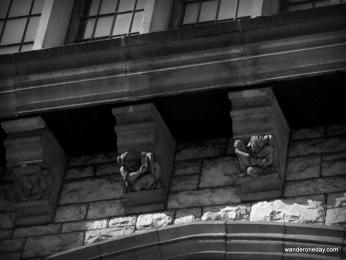 Gargoyles crouch in the shadows in Nashville, TN