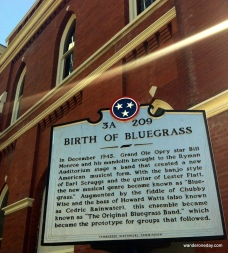 I love the ray of sunshine beaming across the birth of bluegrass.